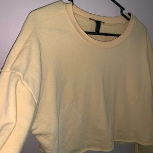 Yellow cropped sweater!